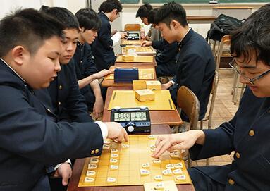 囲碁・将棋部の様子
